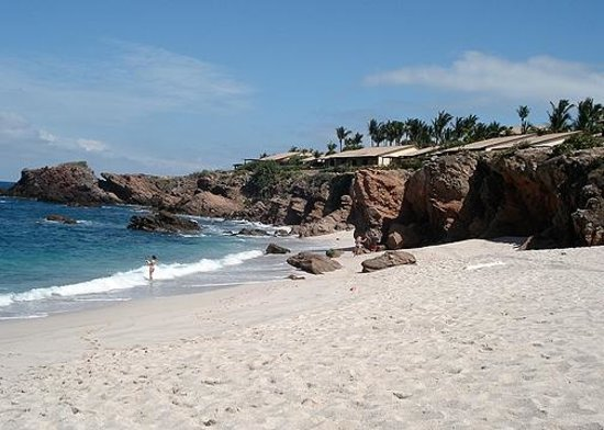 Four Seasons Resort Punta Mita:                   Beach, where you can fish & catch something!