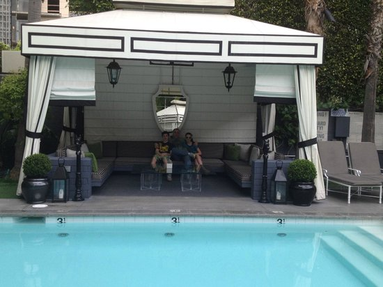 Viceroy Santa Monica:                   Private cabana offers heat lamps and flat screen TV!