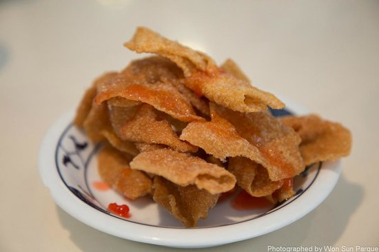 China Delight :                   Fried wonton skin for Lunch Special