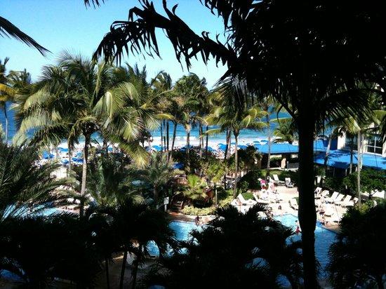 سان خوان ماريوت رزورت آند ستلاريس كازينو:                   view from cabana room 408                 