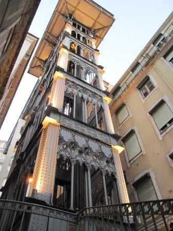 Santa Justa Lift :                   At bottom of this Elevador De Santa Justa