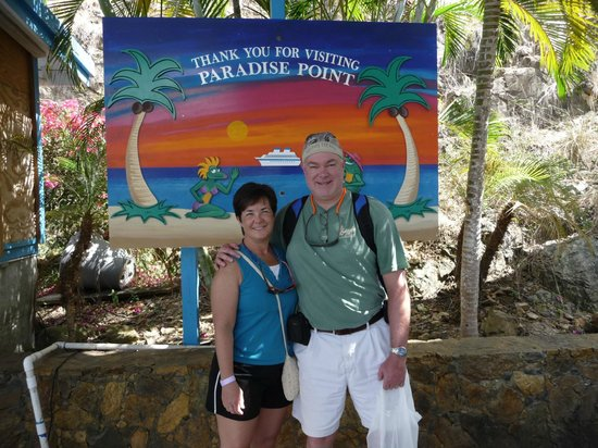 Paradise Point Bar and Cafe :                                     picture to commemorate our visit.