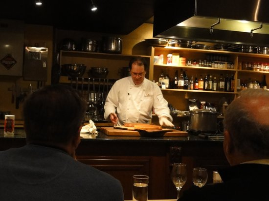 A Chef's Kitchen:                   Chef John cutting cornbread