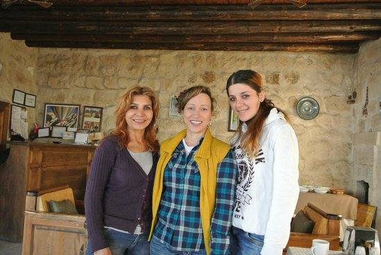 The lovely girls who work at Dervish Cave House and me