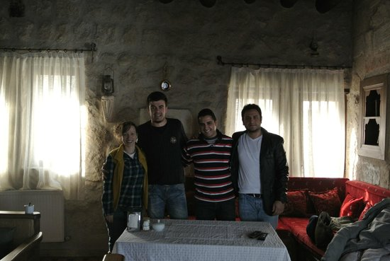 Dervish Cave House:                   My boyfriend and I, manager Ibo and his cousin