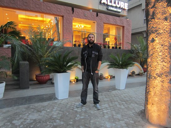 """The Allure - A Boutique Hotel:                   The front face of """"THE ALLURE""""."""