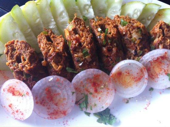 The Daily Curry: PHALDHARI SEEKH KEBAB
