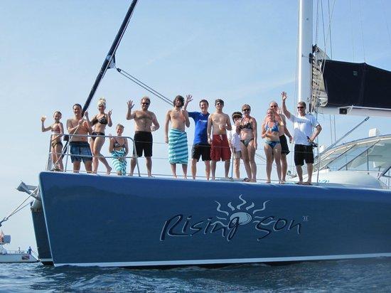 Rising Son II Catamaran: Smile for the camera!!