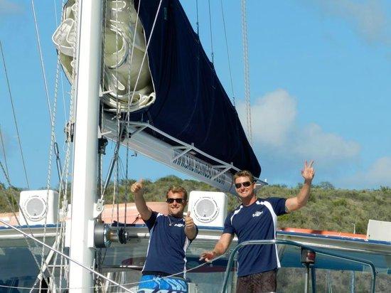 Rising Son II Catamaran: Captain Beez and Mate Steve