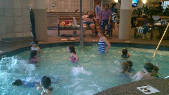 Wyndham Long Wharf Resort :                   indoor portion of the smallish pool - kind of crowded