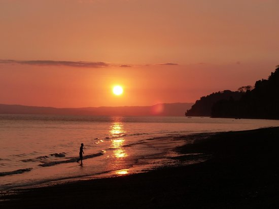 Golfo Dulce Lodge:                   golfo dulce sunset
