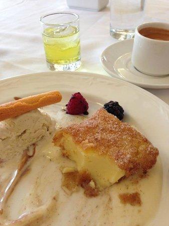 "Casino Espanol:                   ""Fried Milk"" dessert"