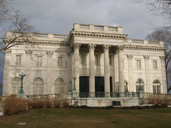 Newport Mansions:                   Front view of The Marble House