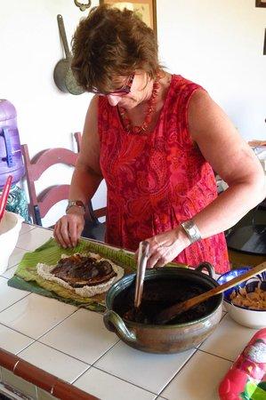 Hotel Azucenas:                   tamale making class