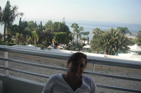 Mediterranean Beach Hotel:                                     View from the balcony