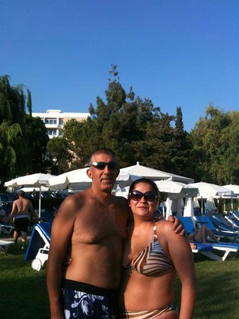 Mediterranean Beach Hotel:                                     Enjoying the sun