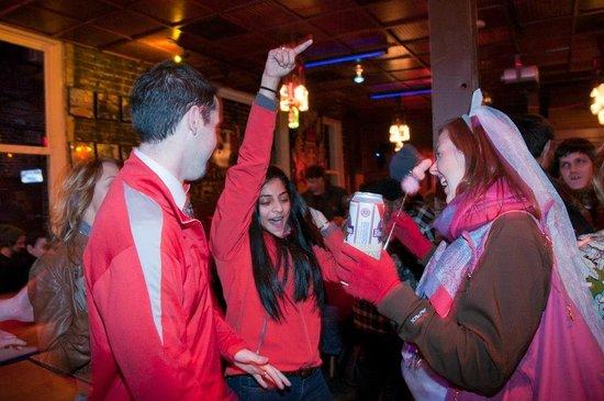 Walk + Shoot Savannah: partying at hangfire pub