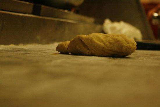 Luca's Ristorante: kneading dough