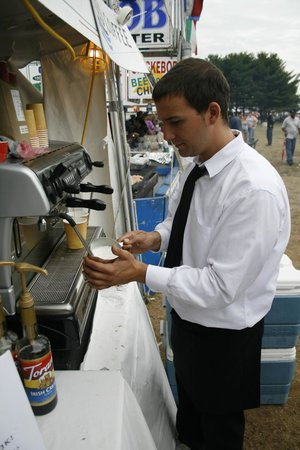 "Luca's Ristorante: proud of our roaster Jay, for espresso and coffee ""Benfatto Coffee"""