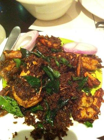 Calicut Paragon:                   malabar dry pepper prawns
