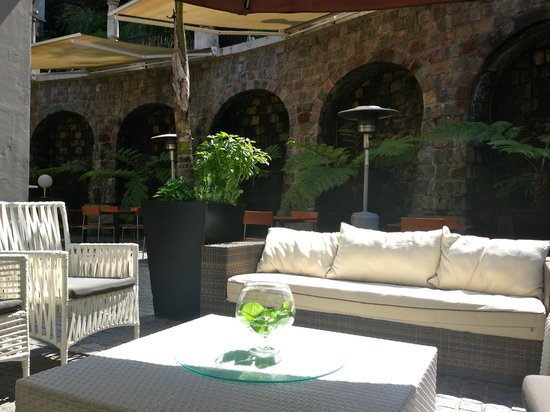 The Aubrey Boutique Hotel:                   Outdoor lounge area