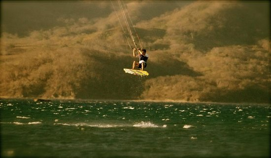 Blue Dream Hotel:                                     Kitesurfing jump