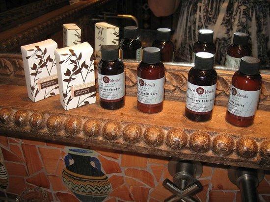 Inn of the Five Graces:                   Amber - Bathroom goodies