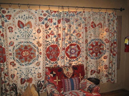 Inn of the Five Graces:                   Amber - Living room curtains drawn, so gorgeous!