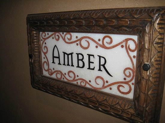 Inn of the Five Graces:                   Amber - The label for our room just outside our door
