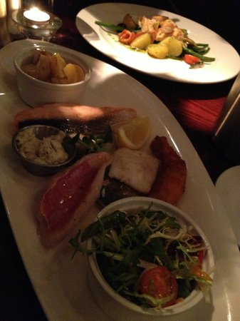 The Winery:                                     Mixed grill of seafood