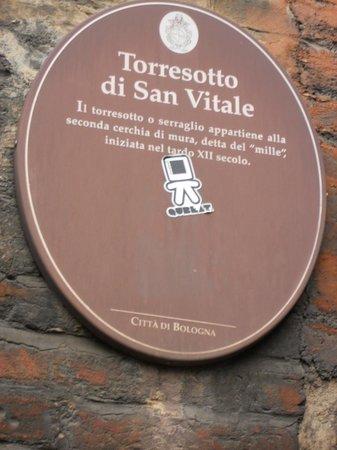San Vitale e Agricola in Arena:                   Cartiglio Torresotto S.Vitale -Bologna