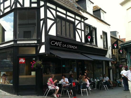 Cafe La Strada: the oldest retail building in Frome, housing a fabulous family friendly cafe!