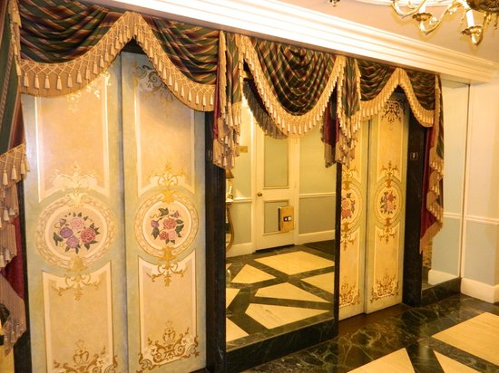 Le Pavillon Hotel:                   Even the elevators are decorated