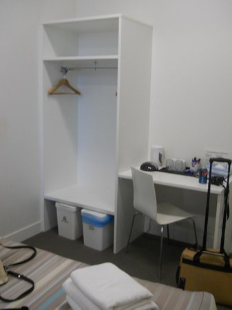 Sydney Harbour YHA:                   coffee-making facilities and smallish closet