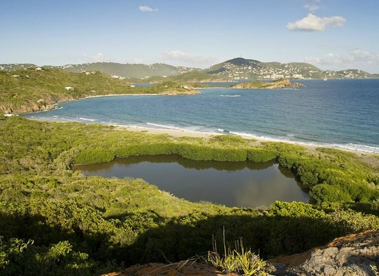 Virgin Islands Campground:                   View of the lagoon (why it's called Water Island)