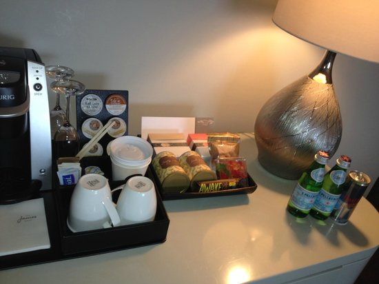 The James Hotel:                   Suite- Coffe and snack area