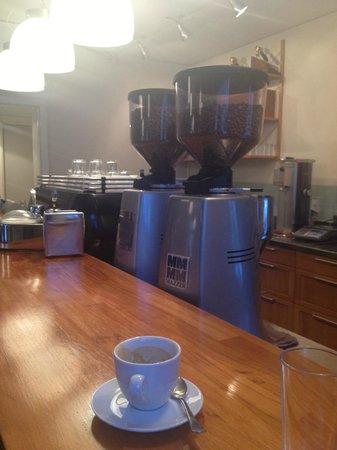 Tim Wendelboe:                   Dbl espresso, 2 Mazzers and a La Marzocco