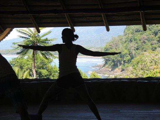 La Cusinga Eco Lodge: Yoga with a great view