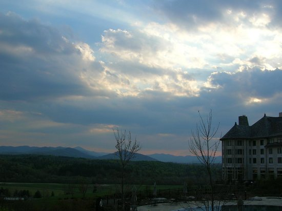 The Inn on Biltmore Estate:                   Sunset at the Inn