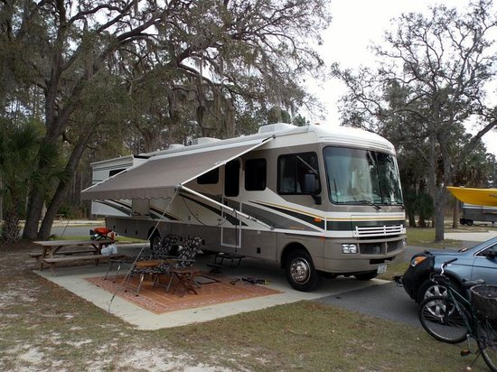 Cedar Key RV Resort:                   Nice wide paved sites