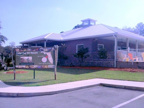Cedar Key RV Resort :                   Spacious clubhouse