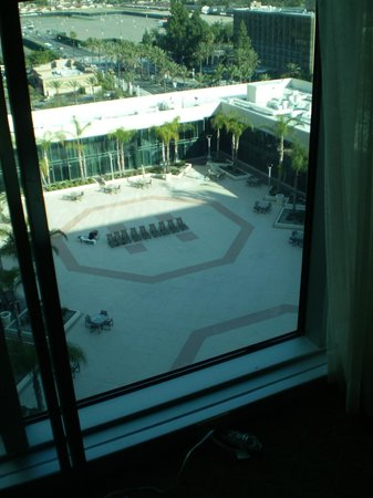 Hilton Anaheim:                   View from 14th floor