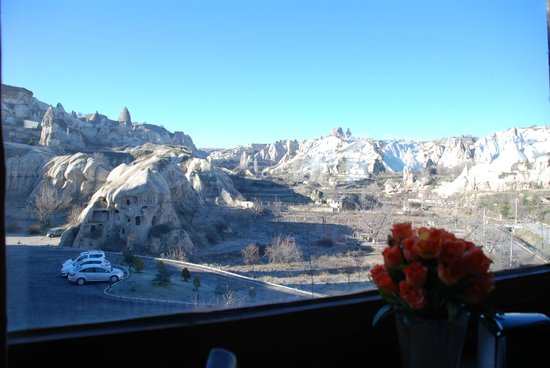 SOS Cave Hotel:                   view from the cafe