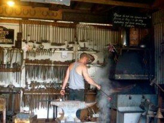 Shugborough:                   Blacksmith hard at work