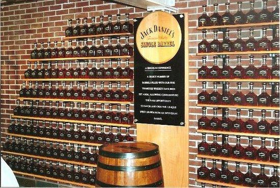 Jack daniel s distillery wall of jack