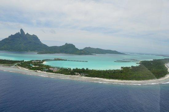 Bora Bora, Franska Polynesien: from helicopter