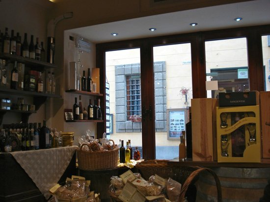 Enoteca Enotria: Looking out towards the street