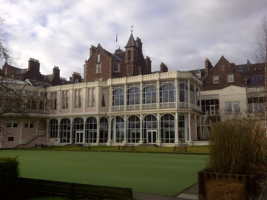 Crieff Hydro Hotel and Resort:                   View of front of hotel