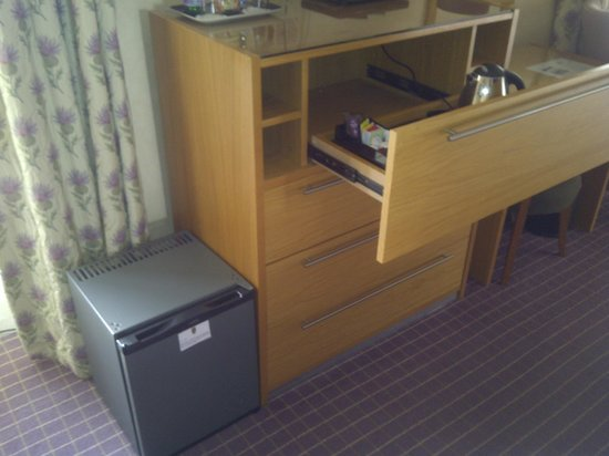Crieff Hydro Hotel and Resort:                   Top drawer tea! With an abandoned fridge on the floor
