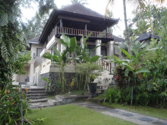 Beji Ubud Resort:                                     Main restaurant, reception area and pool off to the right